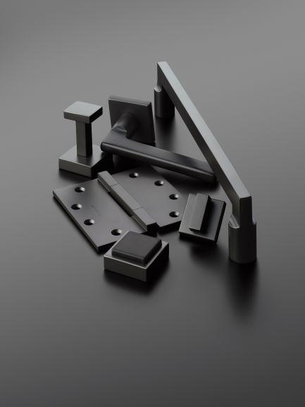 Black Suede Finish Decorative Hardware
