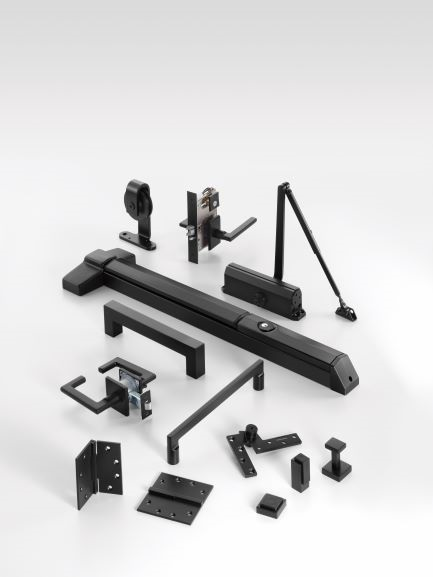 Black Suede Decorative Hardware Suite