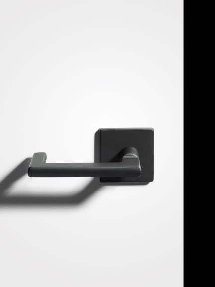 Door Lever Black Suede