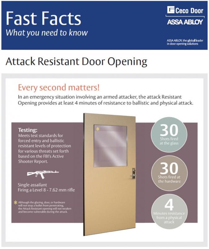 Ceco Attack Resistant Doors