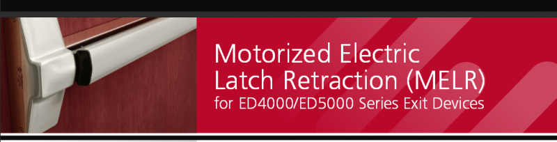 Quiet Motorized Exit Device