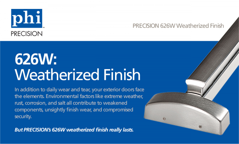 weatherized finish